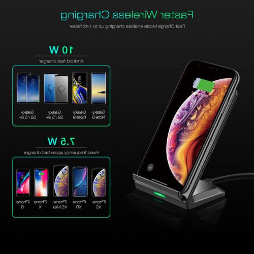 CHOETECH Qi Charger Stand For iPhone XR XS Galaxy S9 S8+