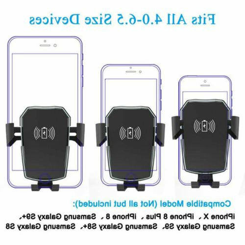 Qi Wireless Automatic Clamping Fast Mount Holder Stand New
