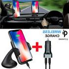 Qi Wireless Car Charger Holder Mount for Samsung S8 Plus Not