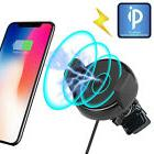 Qi Wireless Car Charger Magnetic Mount Holder For Samsung S8