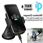 Qi Wireless Car Charger Windshield Dashboard Holder Stand fo