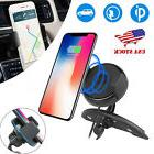 Qi Wireless Car Fast Charger CD Slot Mount Holder Stand For