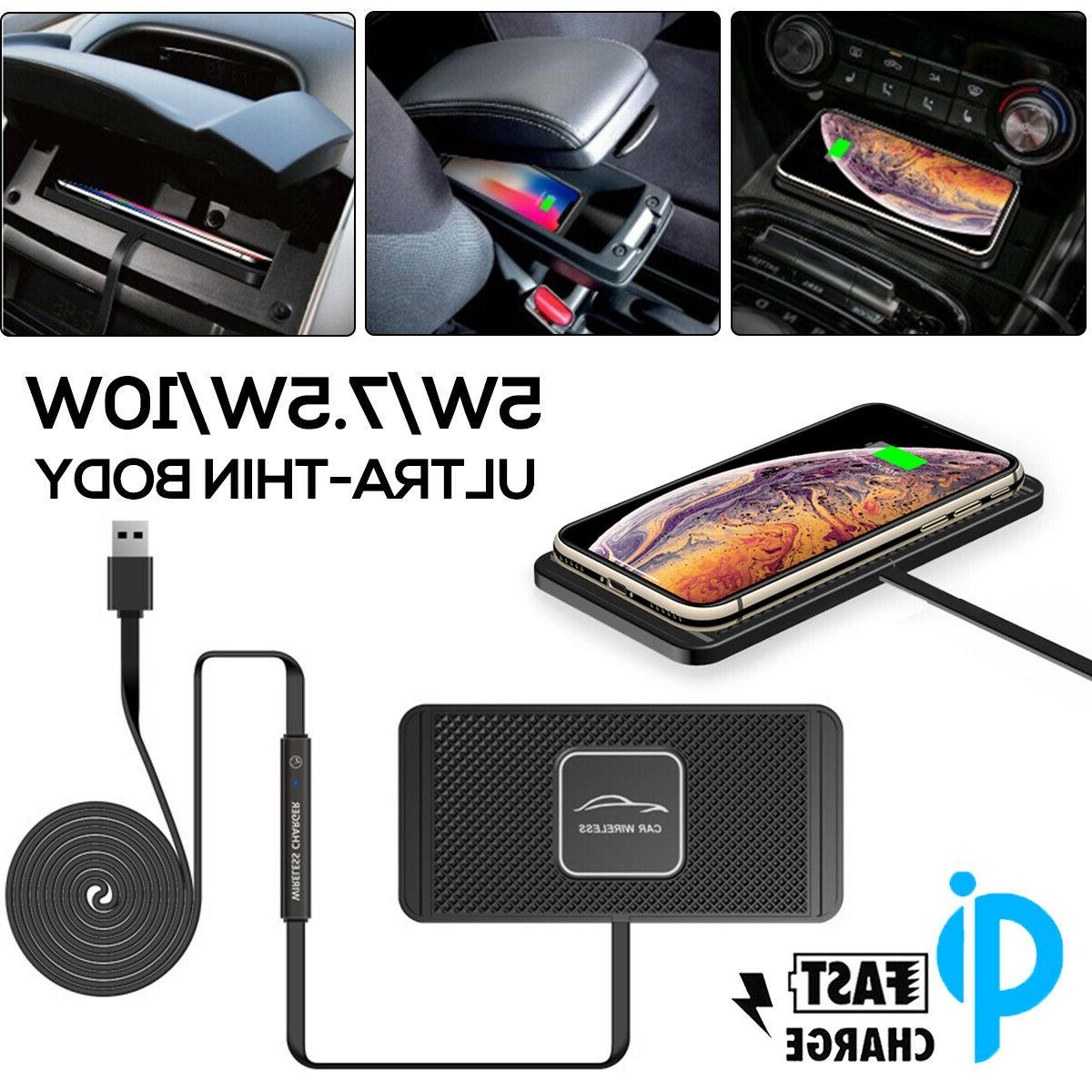 qi wireless car phone charger fast charging