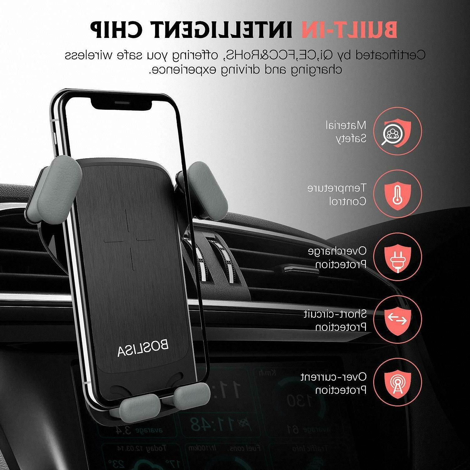 QI Car Charger iPhone 8 Samsung S8 S9+ S7