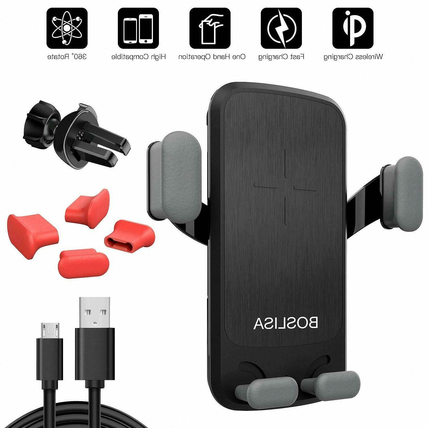 qi wireless car phone charger mount holder