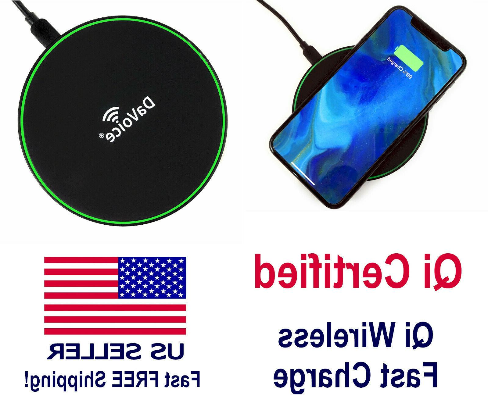 qi wireless charger 10w fast charging mat