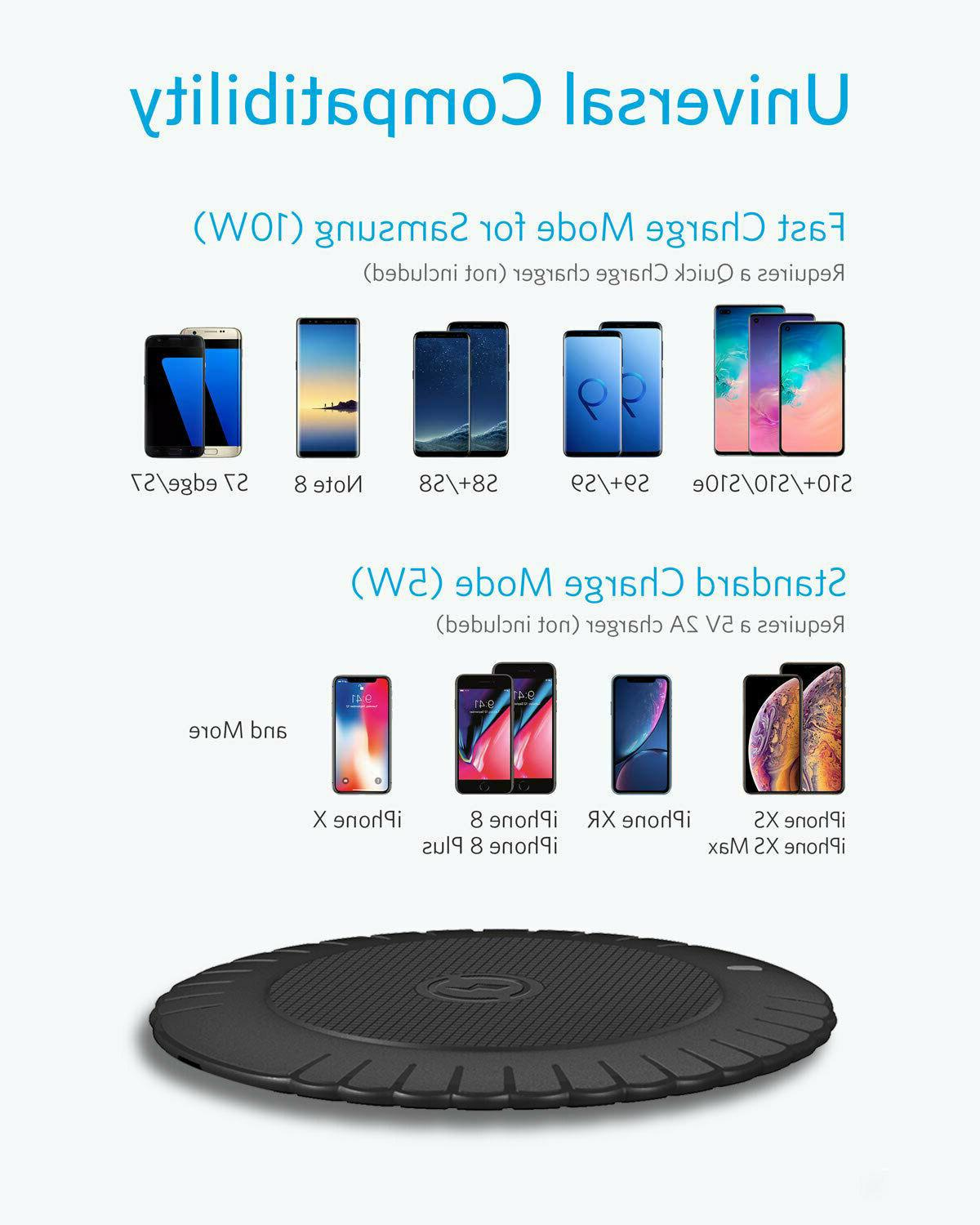 Qi Wireless Phone Charging Pad For 8 Plus XR Samsung S7 S8
