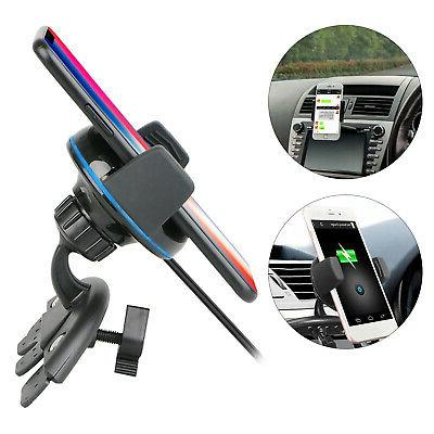 QI Fast Car Mount Stand For iPhoneX 8 Samsung S8