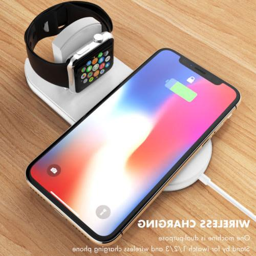 Qi Wireless Charger Charging Pad Charge Station for Apple iW