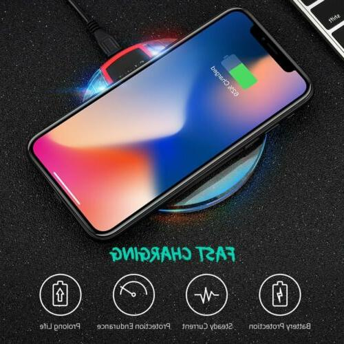 Qi Wireless Fast Charging Pad Dock for iPhone Phone