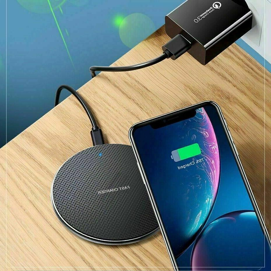 Qi Charger Charge Pad For XS 12 11 Pro For Samsung