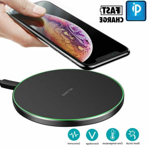 Qi Wireless Charger Fast Charging Pad Fits iPhone 6 7 8 6S P