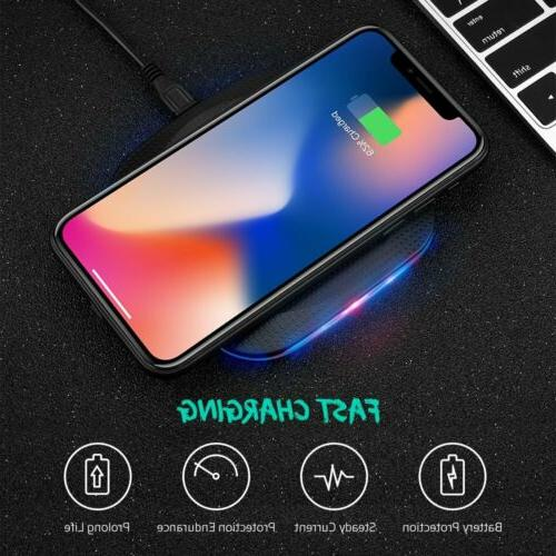 Qi Wireless Fast Charger Charging Pad for iphone Samsung S8