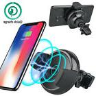 Qi Wireless Charger Holder Car Air Vent Mount Dock for iPhon