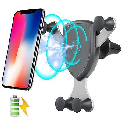 Qi Wireless Charger Holder Car Air Vent Mount Dock For Smart