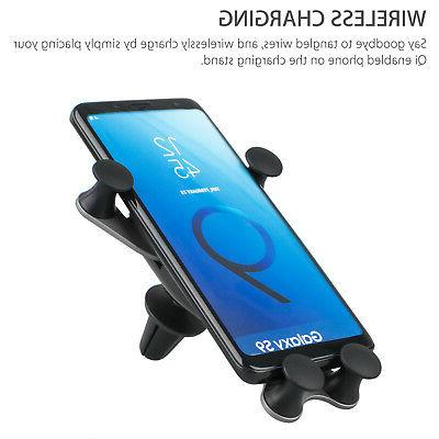QI Wireless Phone Mount Holder Samsung S9 S7