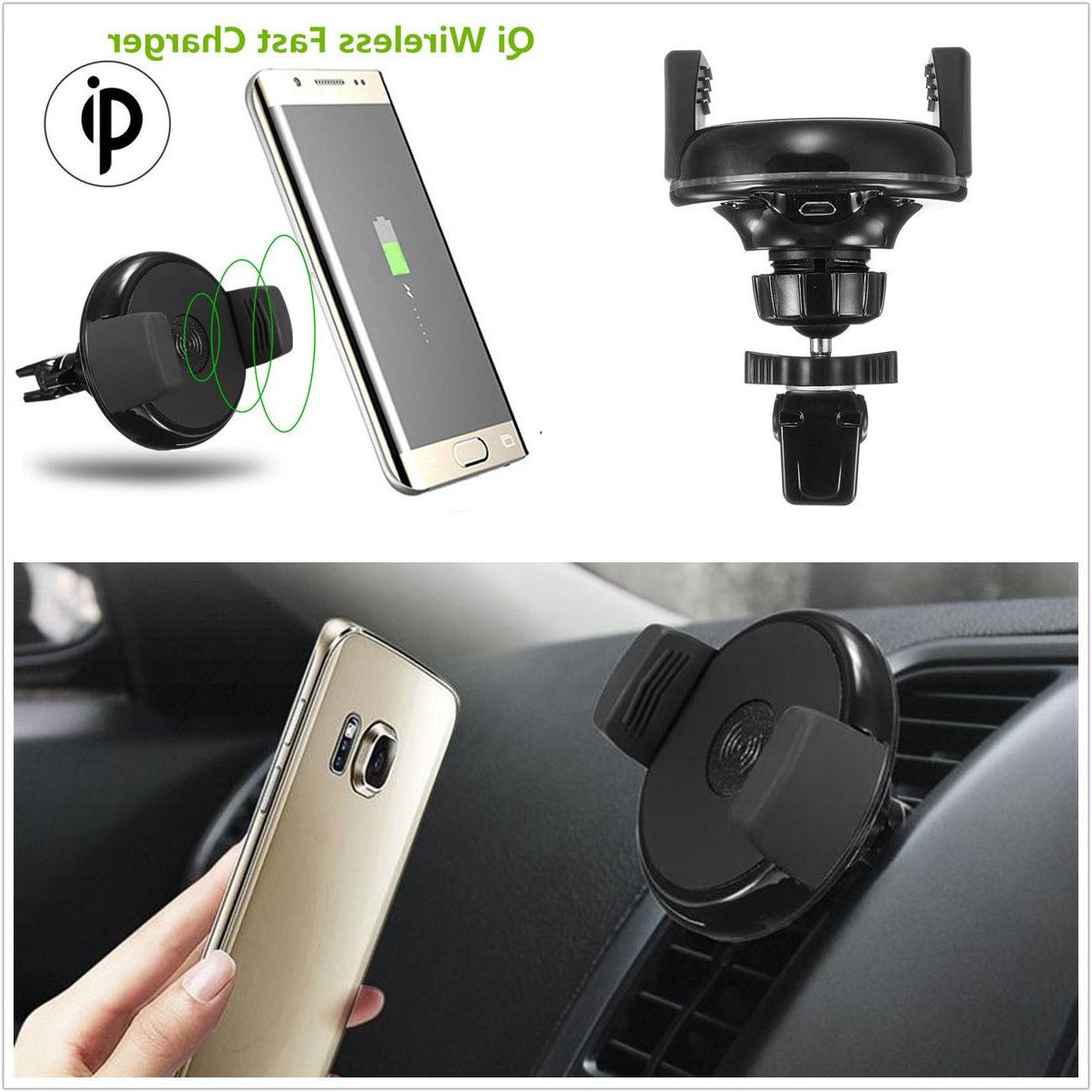 Qi Wireless Charger Car Air Vent Dock For Smart Charging