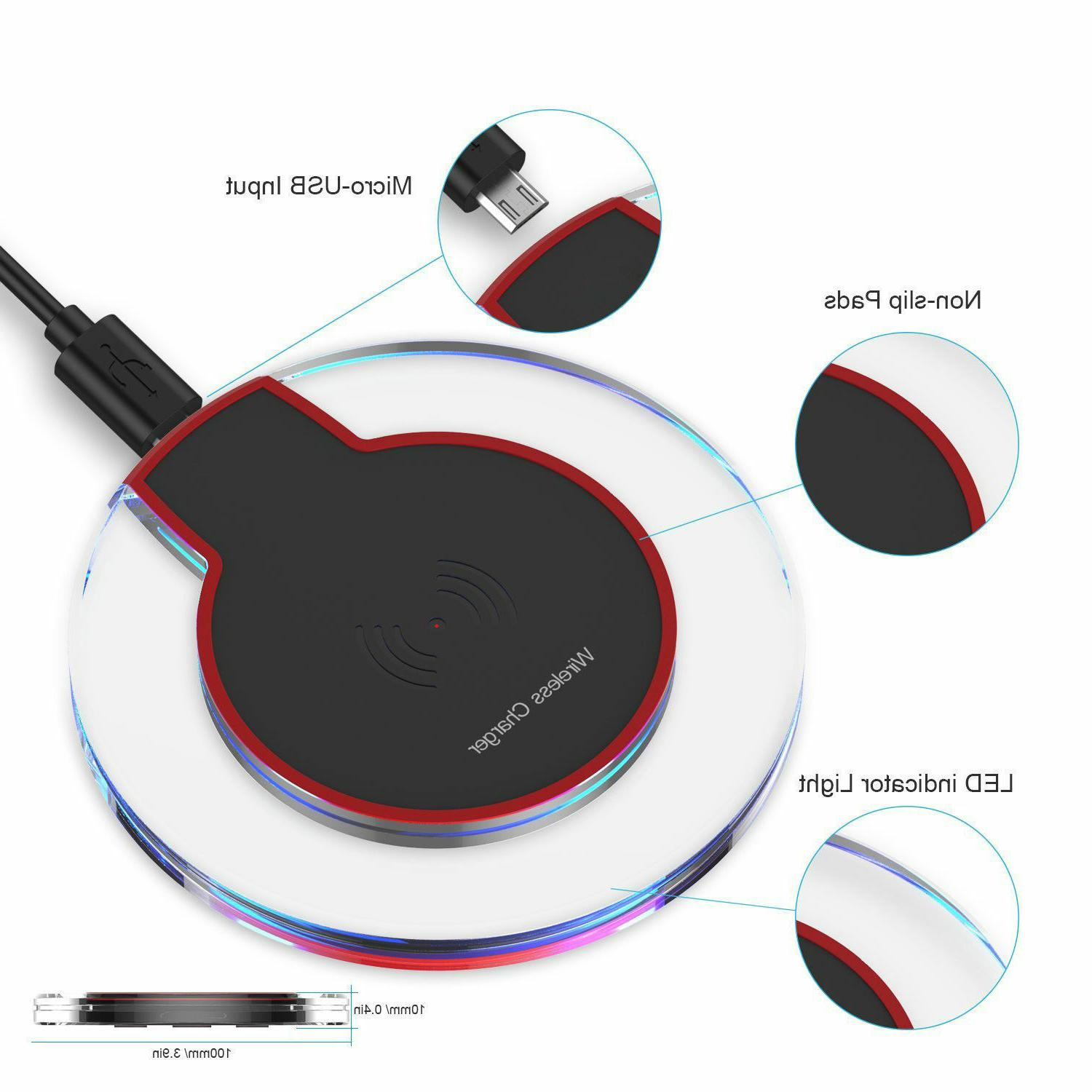 Qi Charger Charging Pad iPhone XS/Max/XR/8/Plus Galaxy Note