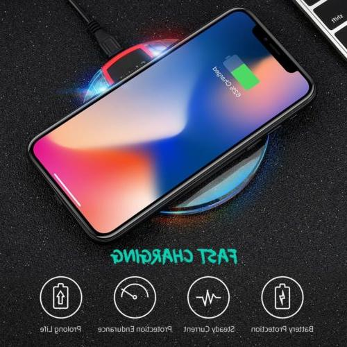 Qi Charger Dock Charging +Receiver iPhone Plus/7