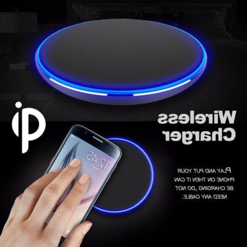 qi wireless charger slim pad mat aluminum