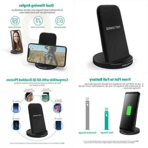 Ravpower Qi Wireless Charging Stand 2 Coils Fast Charger Qui