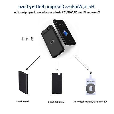 Qi Wireless External Battery Charger Case Power Bank Cover F