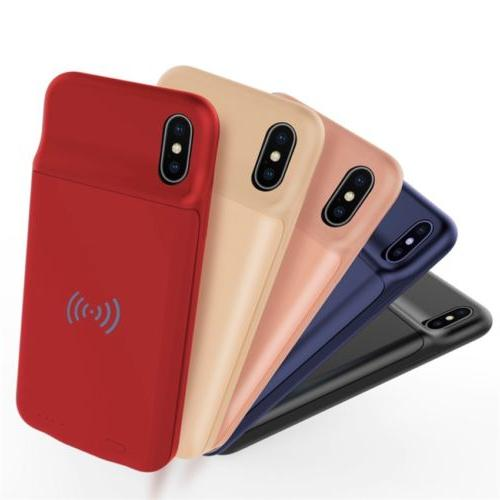 Qi Wireless External Battery Power Bank Charger Cover Case F