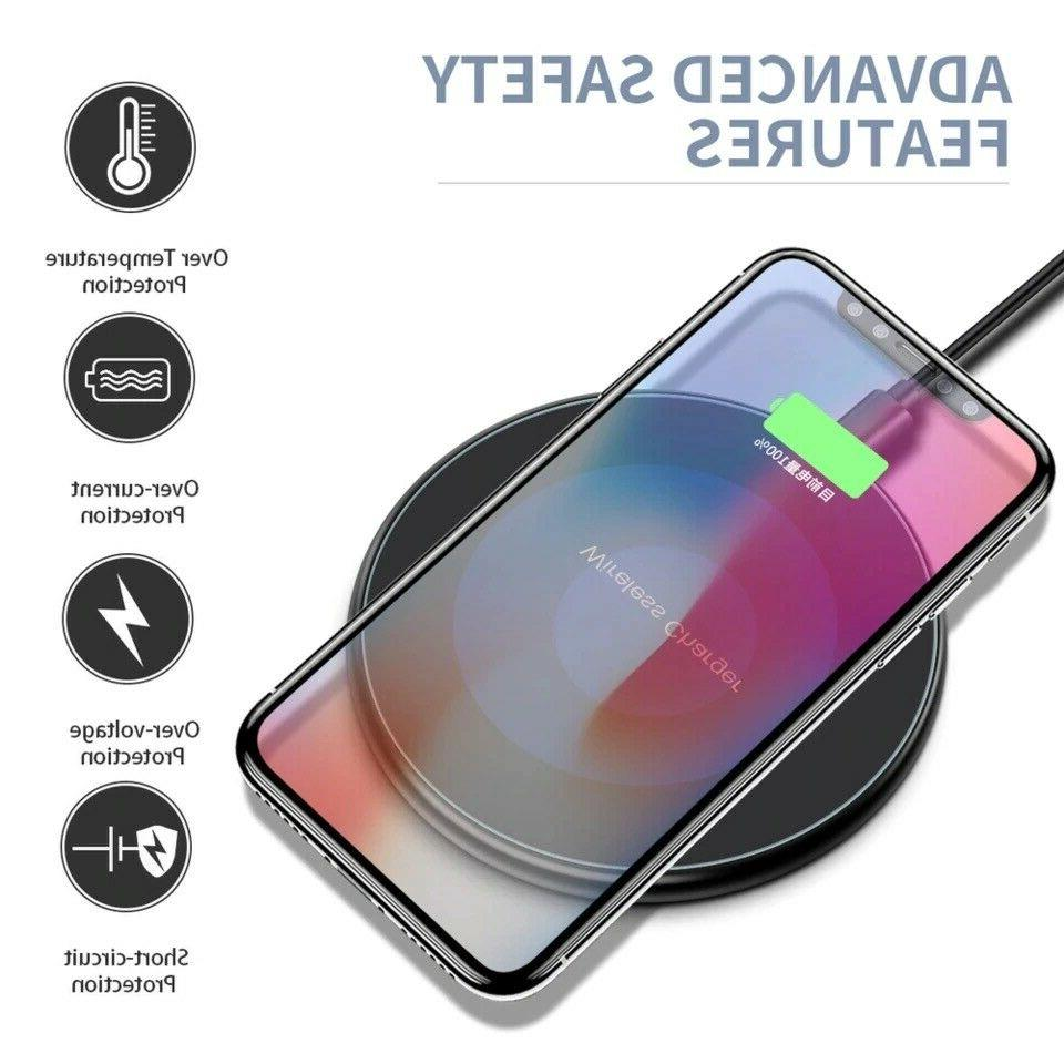 Qi Wireless Fast Charger Charging Pad for Samsung S8