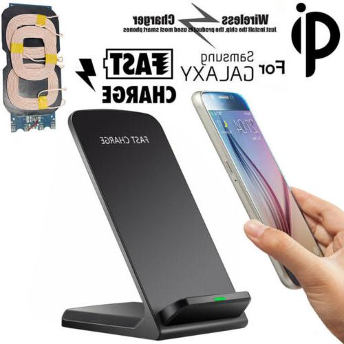 qi wireless fast charger charging pad stand
