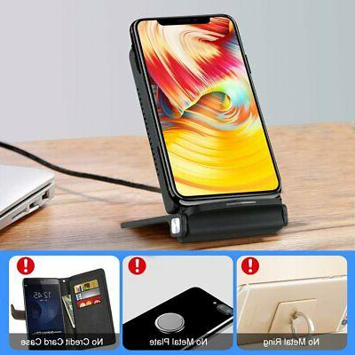 Qi Wireless Fast Charging Pad Dock For US