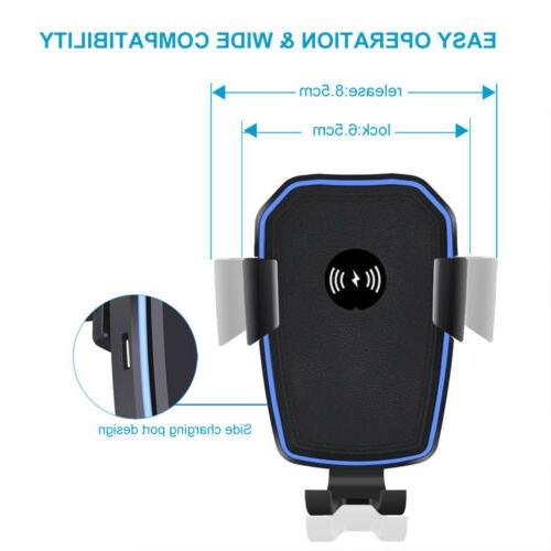Qi Wireless Fast Charging Car Mount Holder Stand 2 For Cell