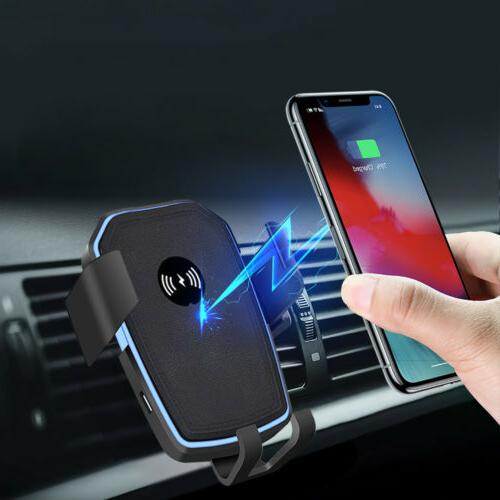 10W Qi Wireless Charger Air Vent Car Bracket For iPhone 11 P