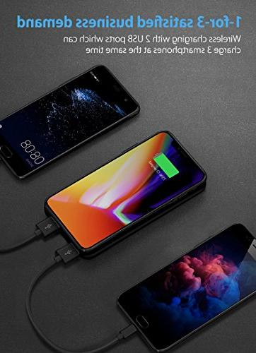 Qi Wireless Portable Hokonui 10000mAh Bank LED Display External 2 in iPhone, Plus/S9,
