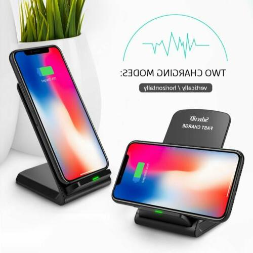 For Samsung S8/ S9/ Qi Wireless Fast Stand Pad