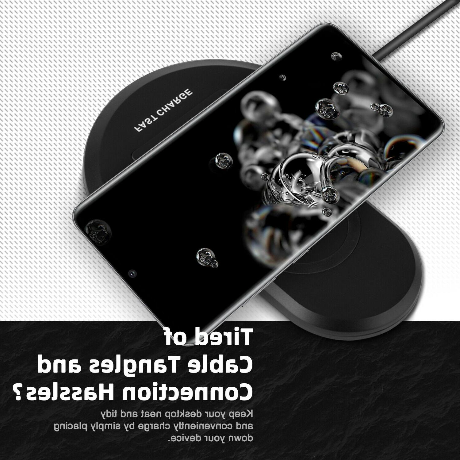 Qi Wireless Charger Pad Galaxy S20+ 10+