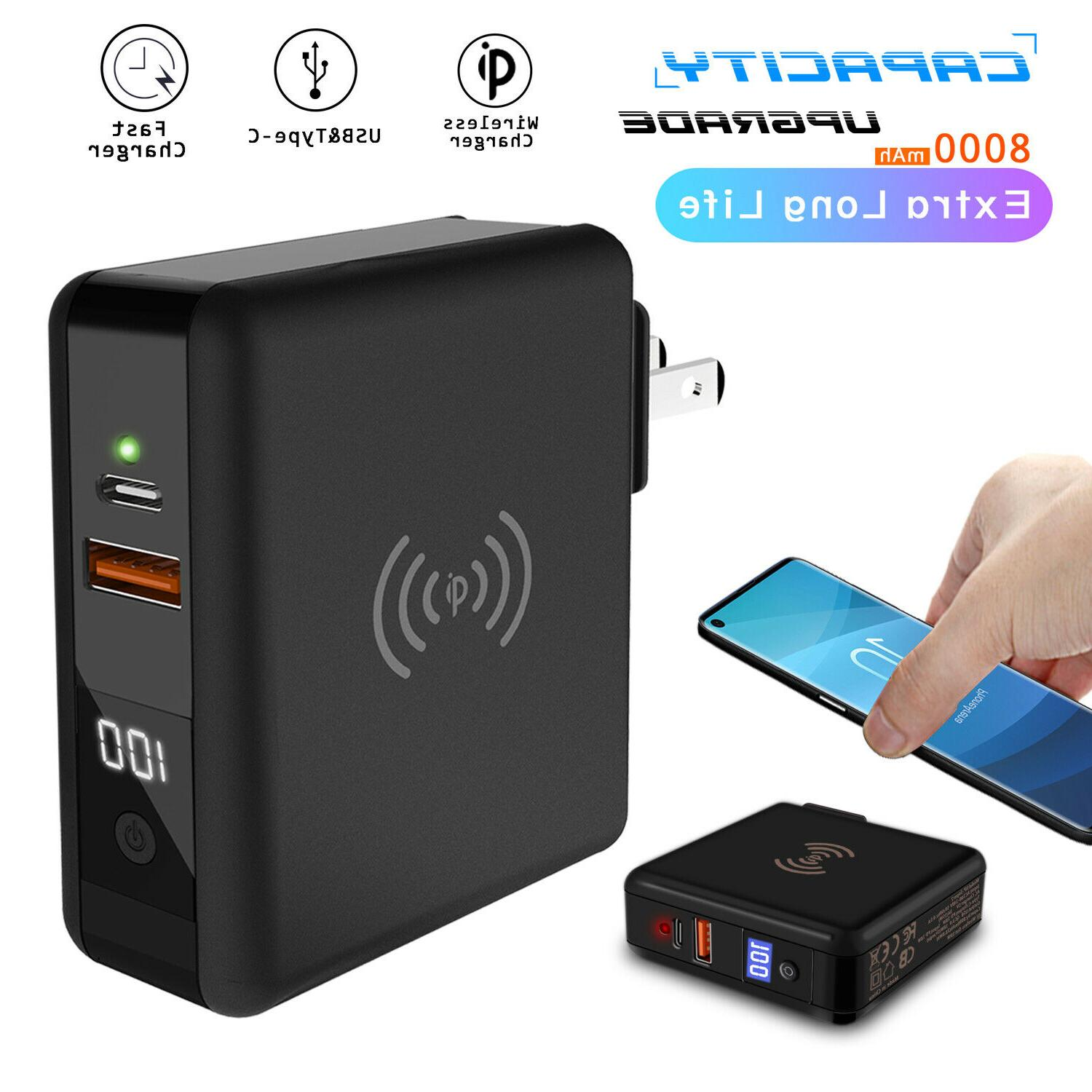 For Samsung Galaxy S9 / S10+ 8000mAh Travel Charger Power Ba