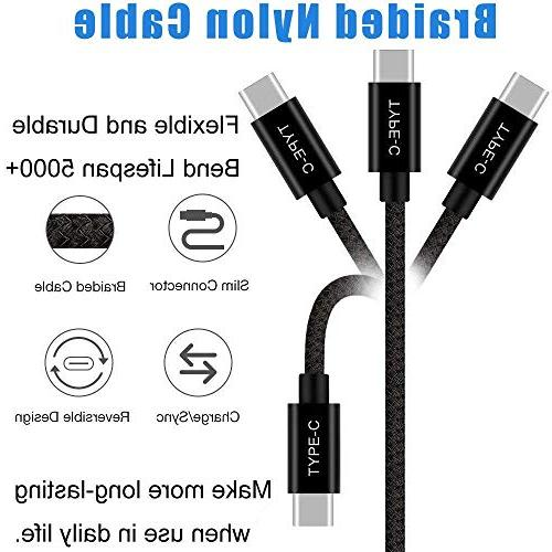 Short USB Type Cable, Fast Charger, Nylon Braided Samsung Galaxy S9 Note V20 Pixel XL 3XL,Switch,Power and More