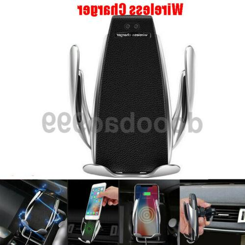 smart automatic clamping wireless car charger infrared