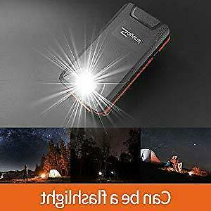 Solar Charger Qi Charger Power Bank 20000mAh Waterproof Orange