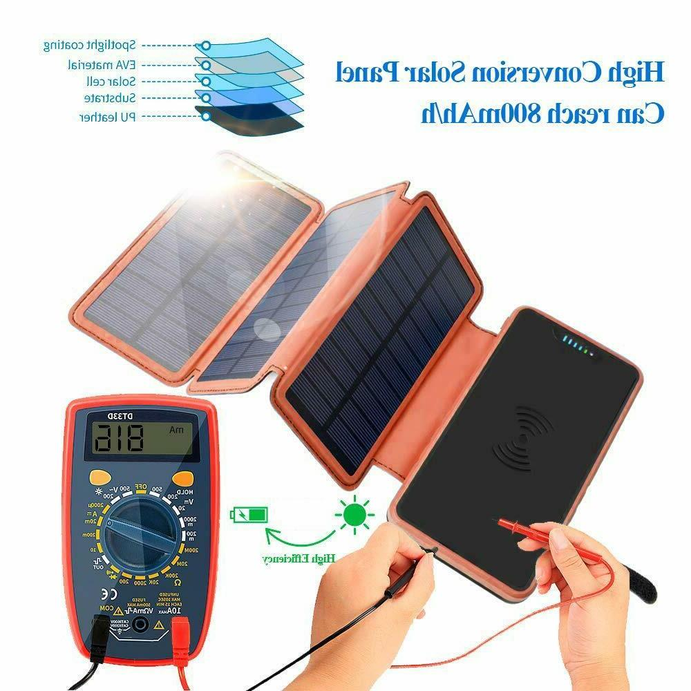 Solar Charger Qi Charger Power 20000mAh