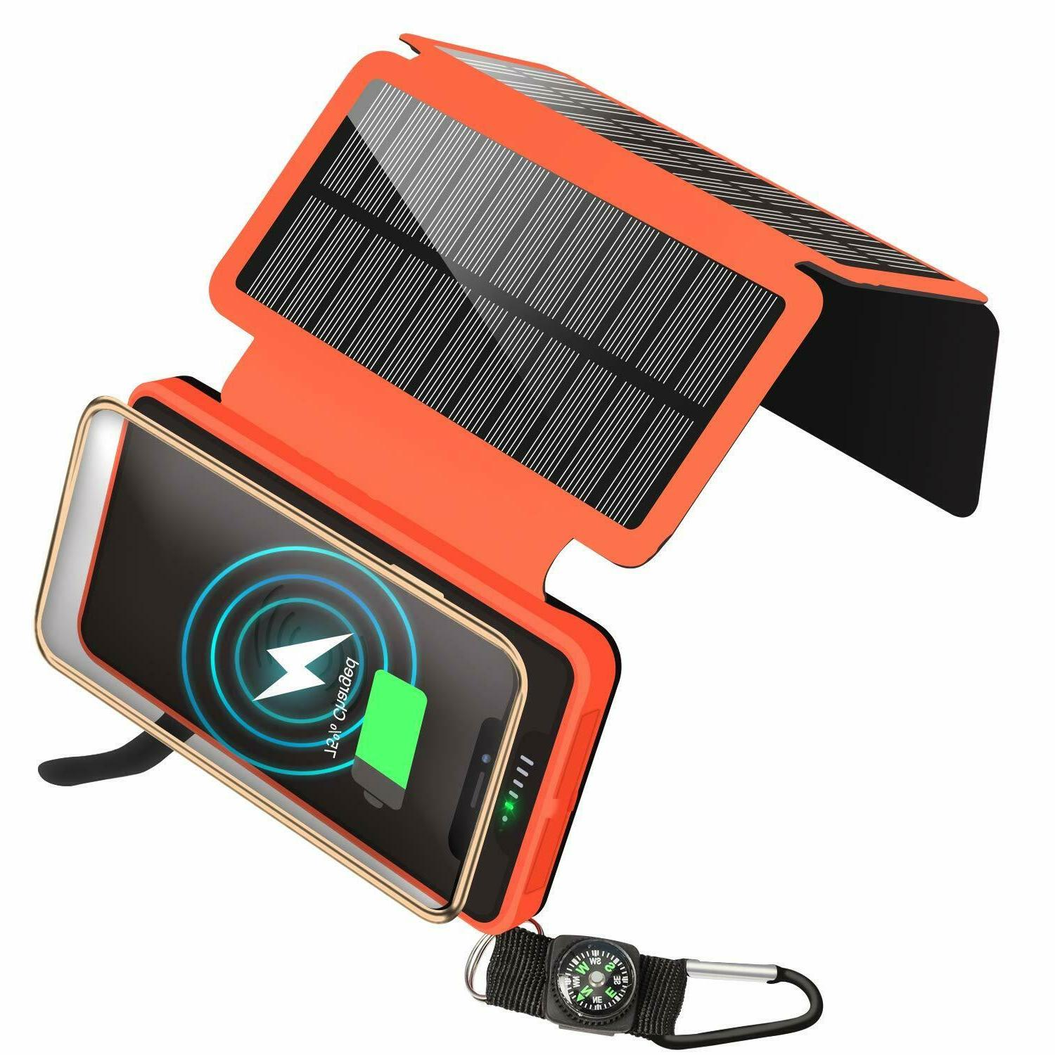 solar charger qi wireless charger portable power
