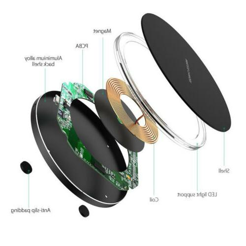 10W Metal Qi Wireless For iPhone Samsung