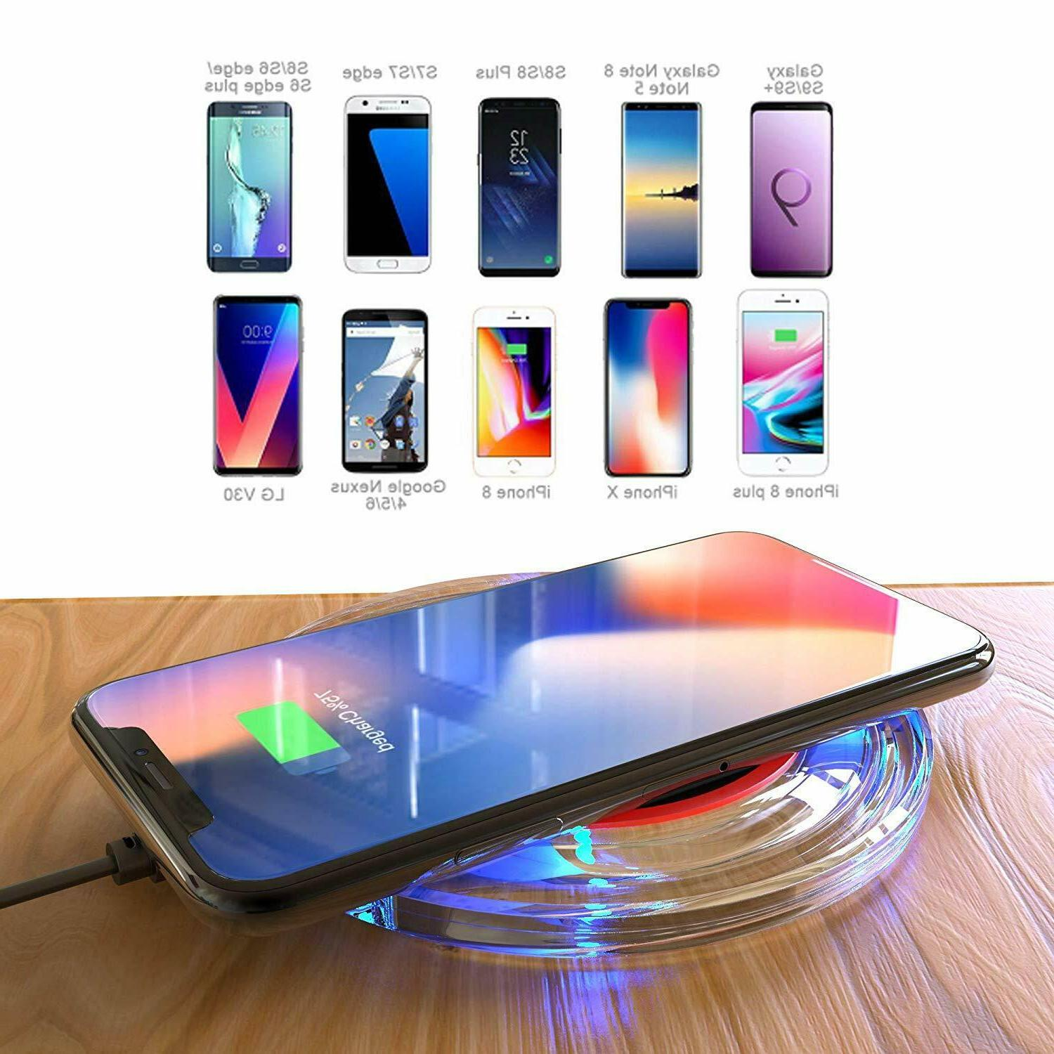 Ultra-Slim Charger, 5W Qi-Enabled Phones, Wireless