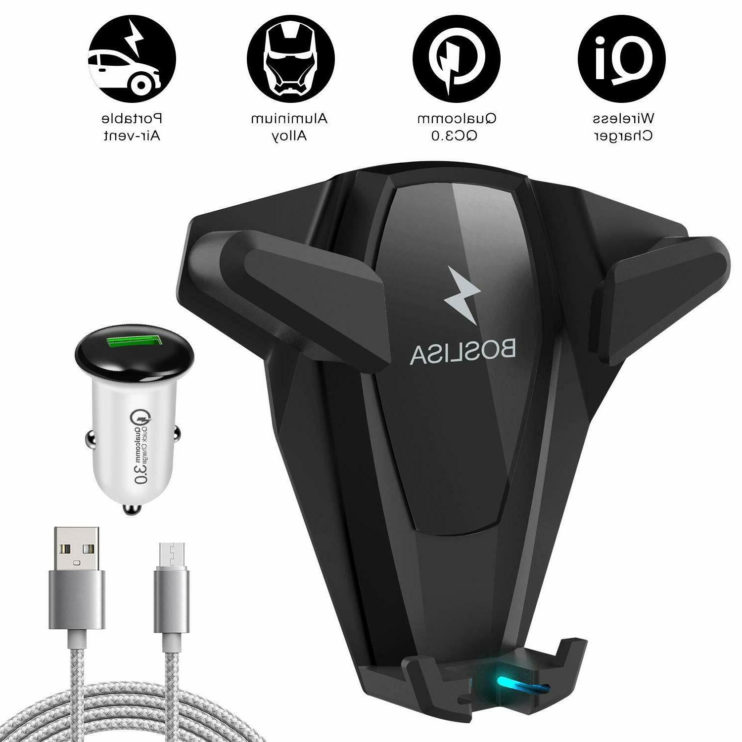 Universal Car Air Vent Mount & Wireless Charger Cell