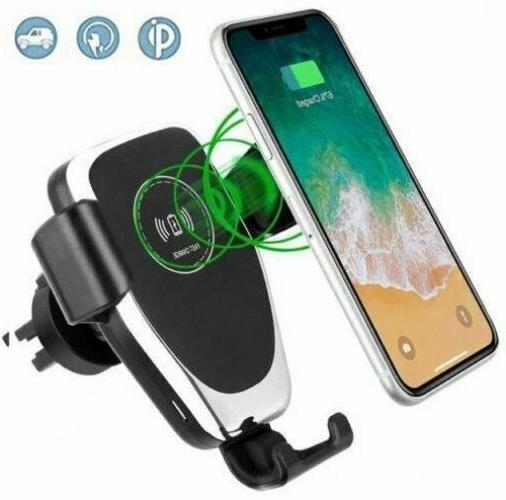 universal qi wireless car mount charger quick