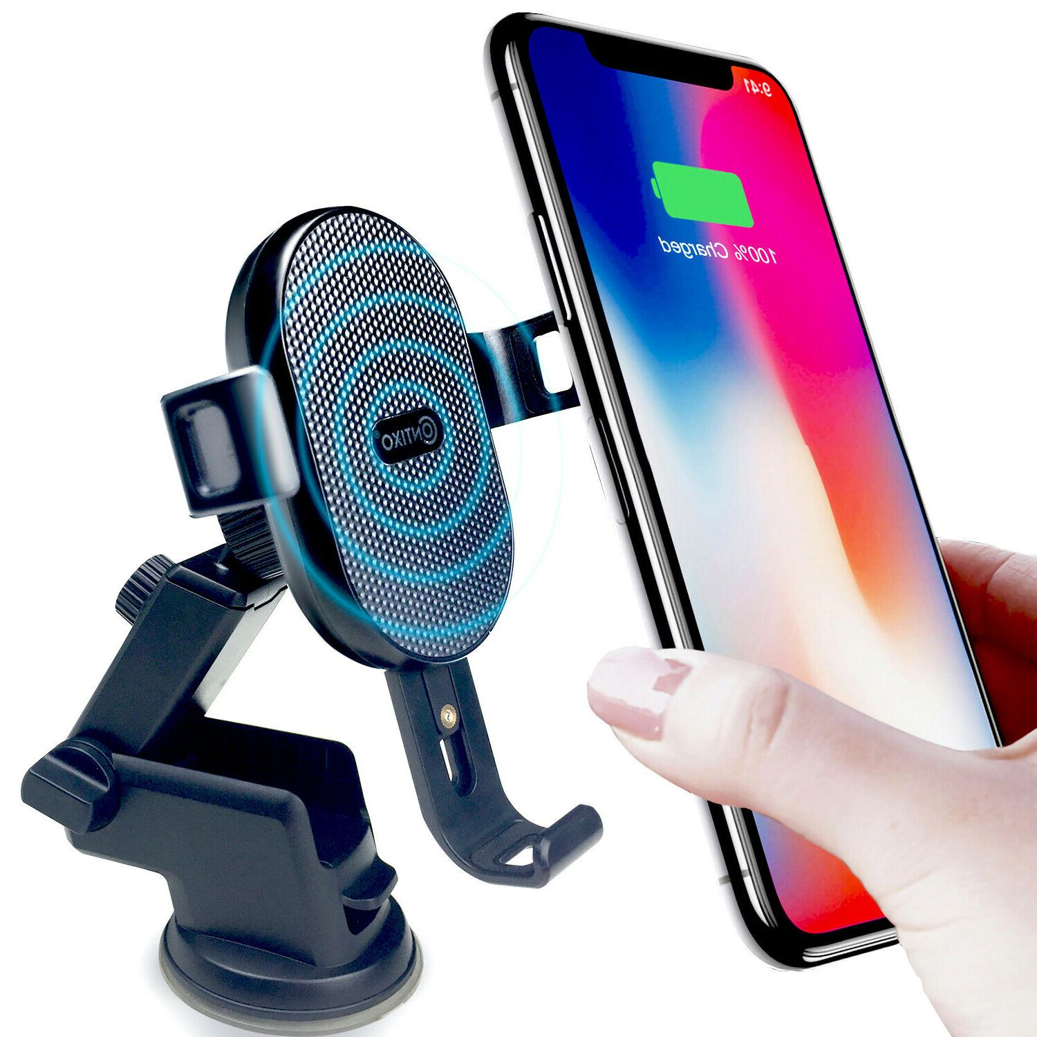 Contixo Universal Qi Wireless Charger Car Mount fr Windshiel