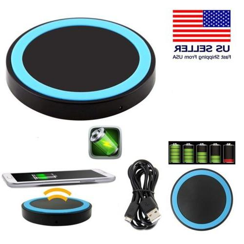 Universal Qi Wireless Charger Pad w/ Charging Receiver for A