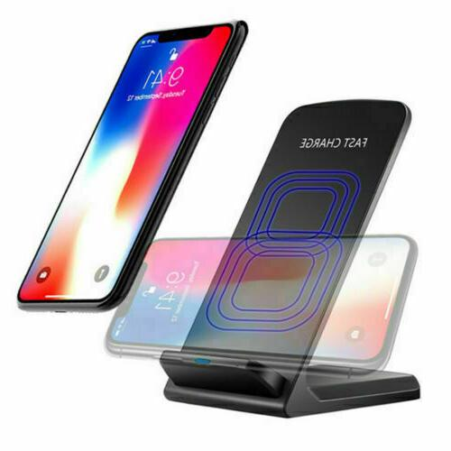 US 10W Wireless Charger Dock Charging Pad 8