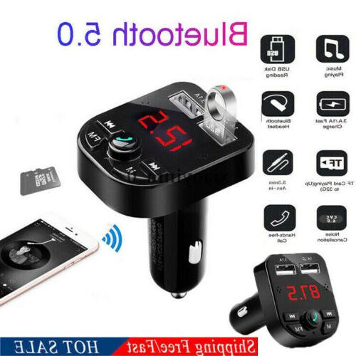 US Car USB Charger Transmitter Wireless Radio Adapter Player