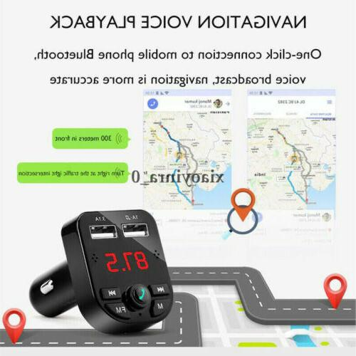 US Bluetooth Charger Transmitter Wireless Radio MP3 Player